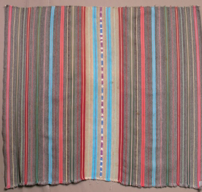 Warp striped lliclla (bundling cloth), Huancayo, Peru, 1960s (SM15)