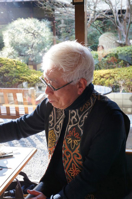 Ken Kirihata (切畑健), retired textile curator at Kyoto National Museum, 2012