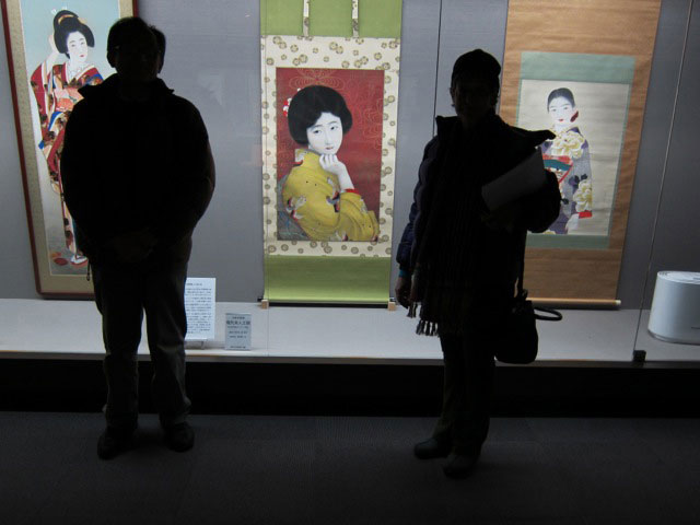 Exhibit of 1930s meisen paintings, Ashikaga, 2012